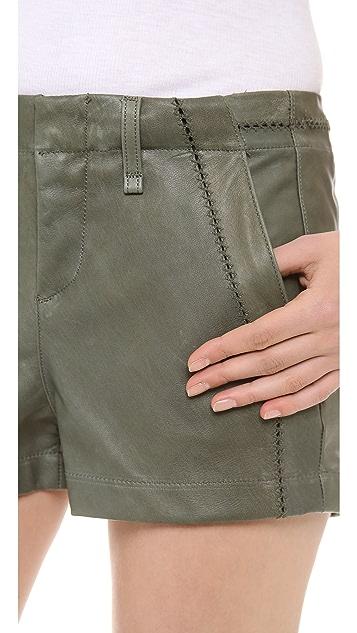 Rag & Bone/JEAN Leather Separating Shorts