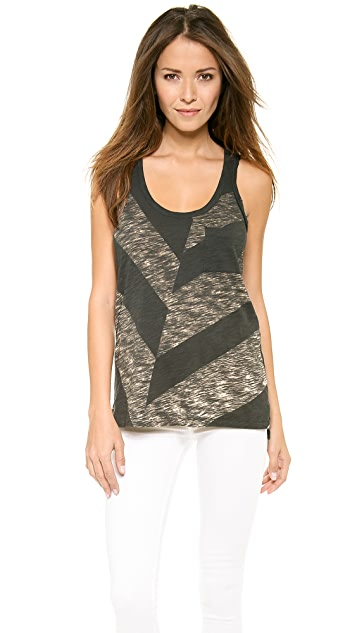 Rag & Bone/JEAN Printed Pocket Tank
