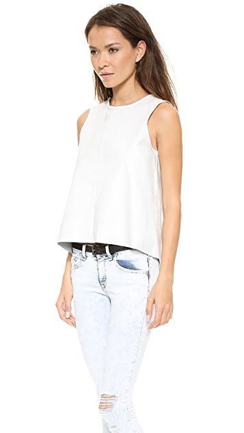 Rag & Bone/JEAN Nicole Leather Tank