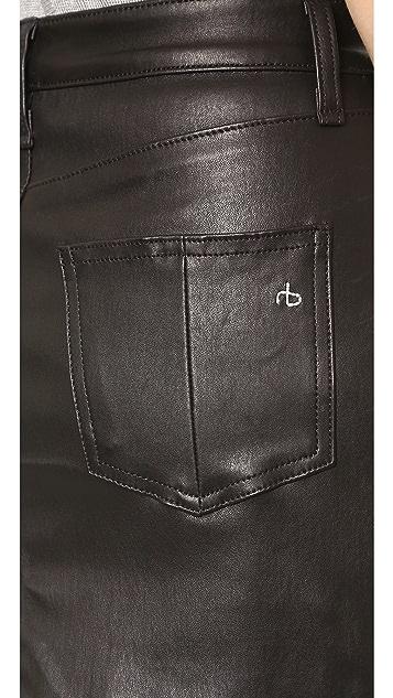 Rag & Bone/JEAN Leather Miniskirt