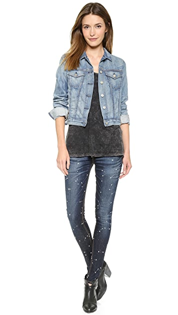 Rag & Bone/JEAN The Splatter Paint Skinny Jeans