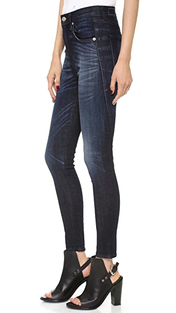 Rag & Bone/JEAN Justine Zipper High Rise Legging Jeans