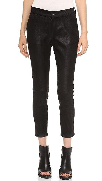 Rag & Bone/JEAN Dash Slouchy Leather Trousers