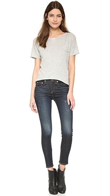Rag & Bone/JEAN High Rise Skinny Zipper Crop Jeans