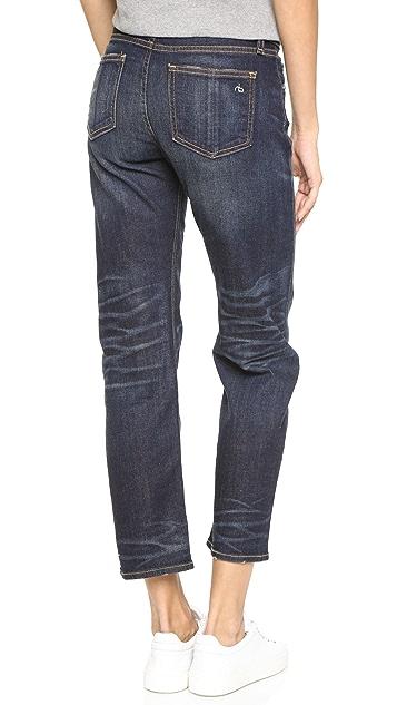 Rag & Bone/JEAN Cropped Straight Leg Jeans