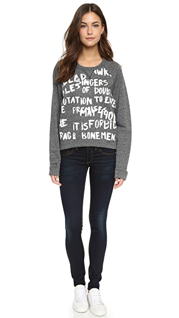 Rag & Bone/JEAN Graffiti Sweatshirt