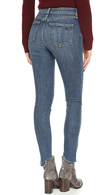 Rag & Bone/JEAN 10 Inch Destroyed Skinny Jeans