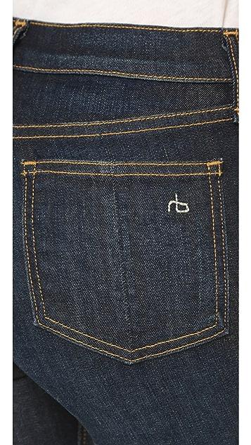 Rag & Bone/JEAN 10 Inch Crop Straight Jeans