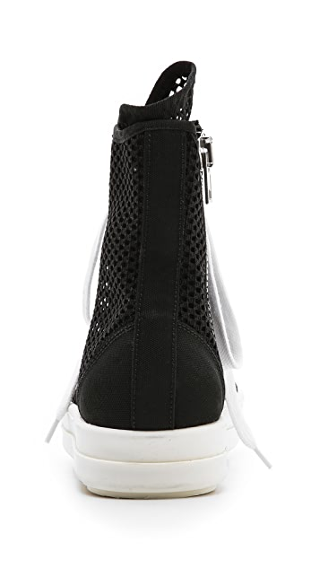 Rick Owens DRKSHDW Ramones High Top Sneakers