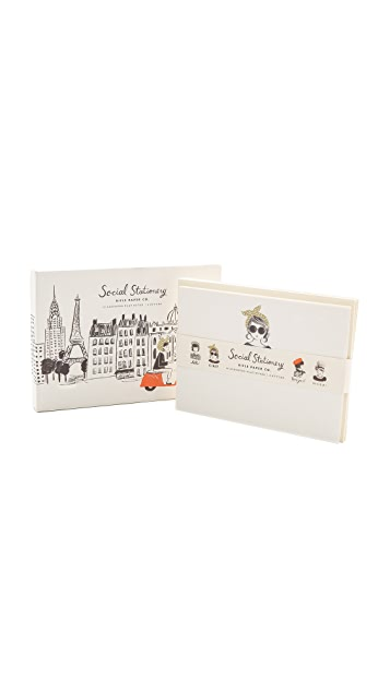 Rifle Paper Co Global Greetings Social Stationery Set