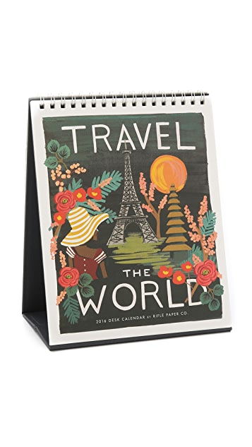 Rifle Paper Co 2016 Travel the World Desk Calendar