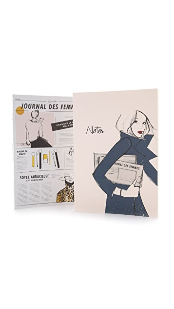 Rifle Paper Co Garance Dore On The Go Notebook Set