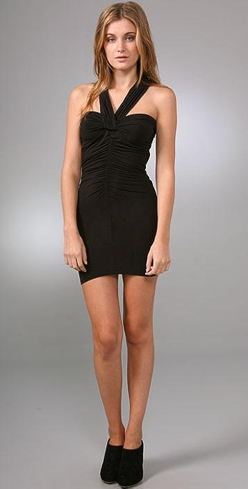 Riller & Fount Siren Open Back Ruched Mini Dress
