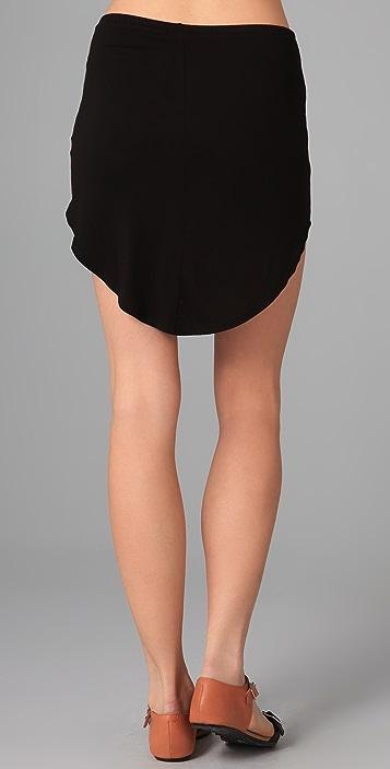 Riller & Fount Shorty Shirttail Miniskirt