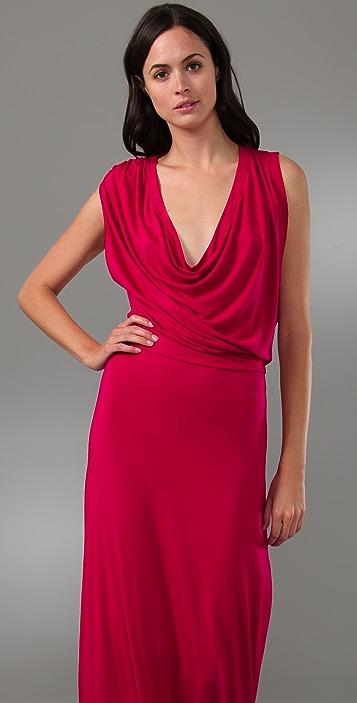 Riller & Fount Miriam Draped Long Dress