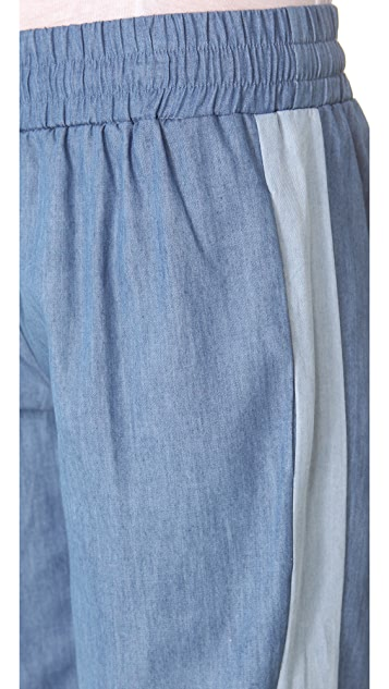 Riller & Fount Drawstring Pants with Contrast Side Panels