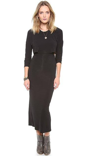 Riller & Fount Kurt Long Sleeve Cutout Maxi Dress