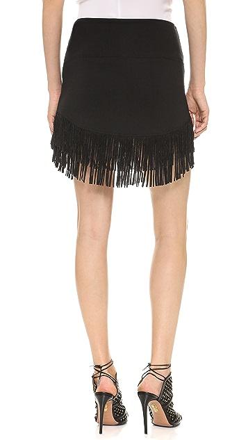 Riller & Fount Rocco Fringe Miniskirt