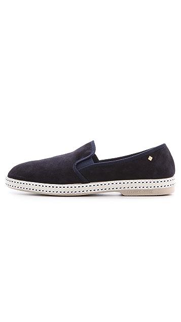 Rivieras Suntan Suede Slip On Shoes