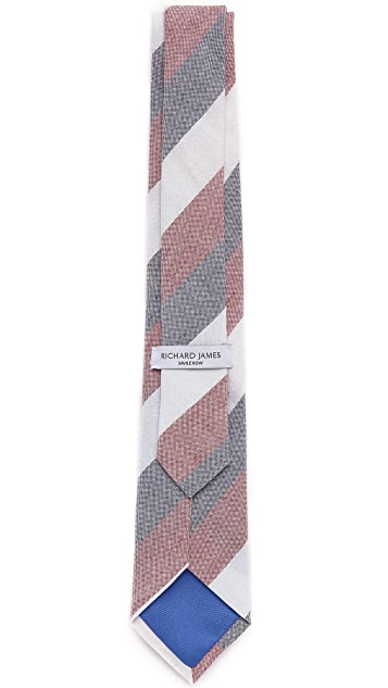 Richard James Linen Cotton Tie