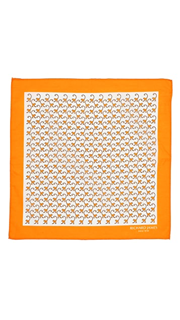 Richard James Monkeys Pocket Square