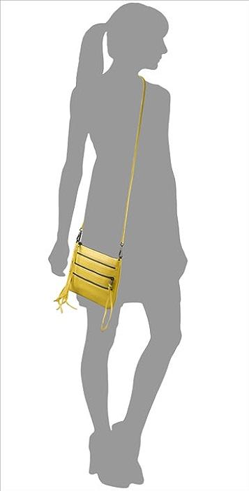 Rebecca Minkoff Perforated 3 Zip Rocker Bag