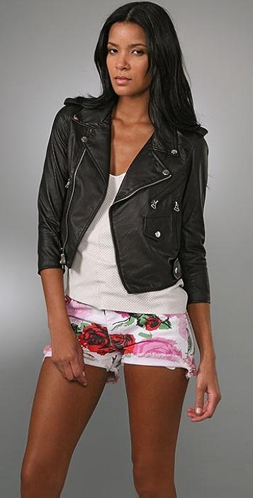 Rebecca Minkoff Lindbergh Perforated Leather Jacket