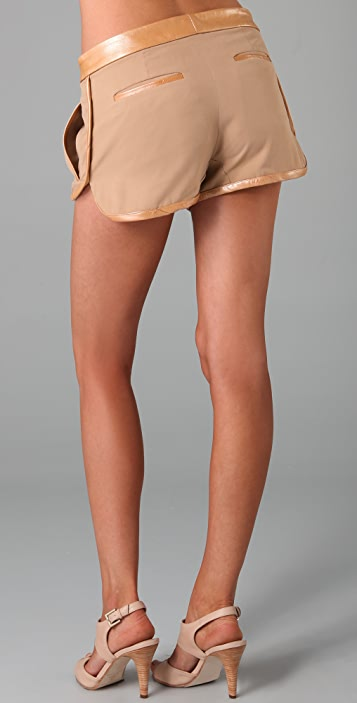 Rebecca Minkoff Zoey Shorts with Leather Trim