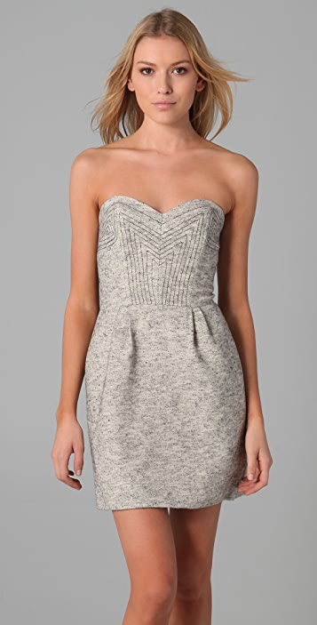 Rebecca Minkoff Lara Tweed Bustier Dress