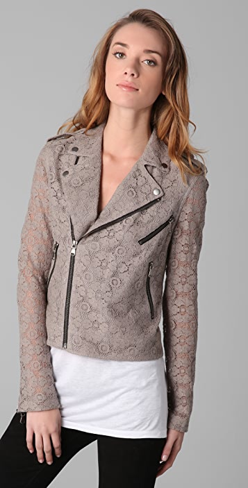 Rebecca Minkoff Lace Moto Jacket