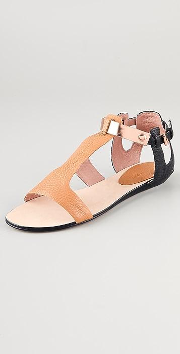 Rebecca Minkoff Bardot Colorblock Flat Sandals