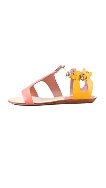 Rebecca Minkoff Bardot Colorblock Flat Sandals