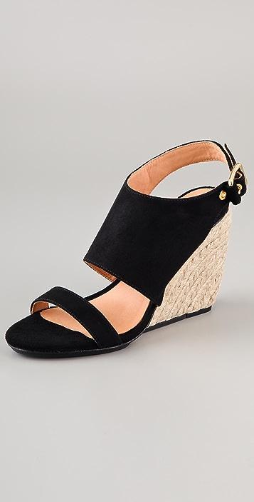 Rebecca Minkoff Suri Suede Wedge Sandals