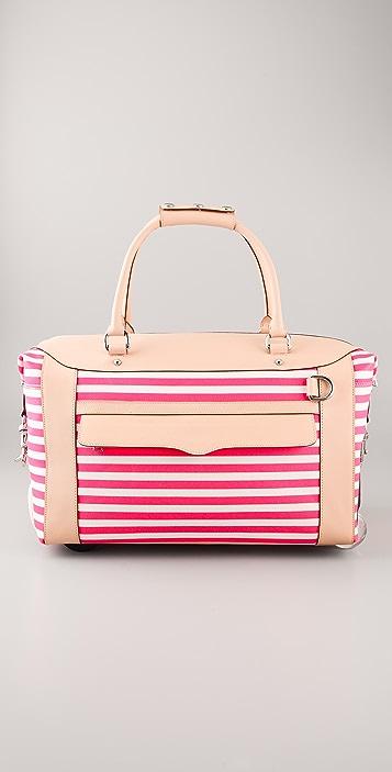 Rebecca Minkoff Striped Wheelie Bag