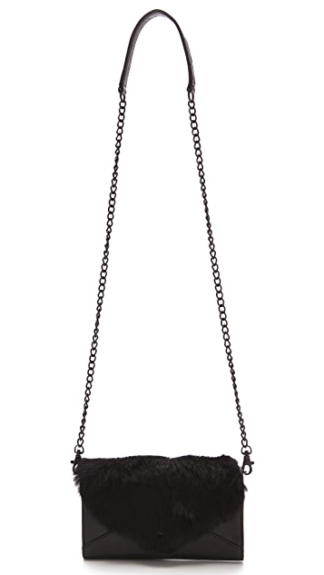 Rebecca Minkoff Fur Wallet on a Chain