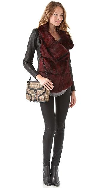 Rebecca Minkoff Woven MAC Bombe Bag
