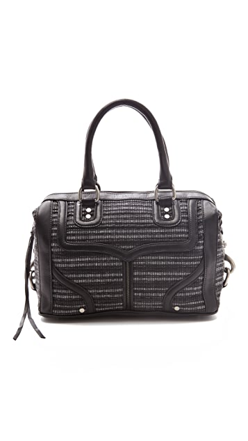 Rebecca Minkoff Interlock Woven MAB Mini Bombe Bag