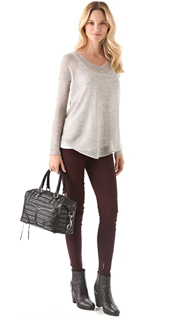 Rebecca Minkoff Interlock Woven MAB Mini Bombe Bag
