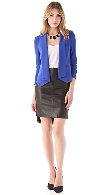 Rebecca Minkoff Leather Pencil Skirt