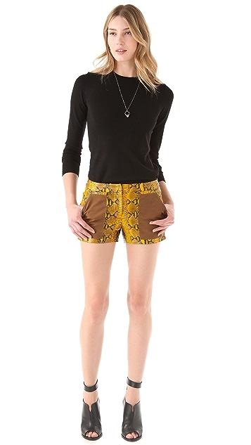 Rebecca Minkoff Embossed Python Shorts