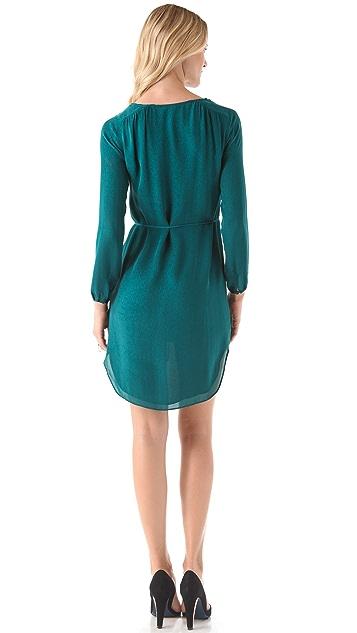 Rebecca Minkoff Deep V Dress with Sash