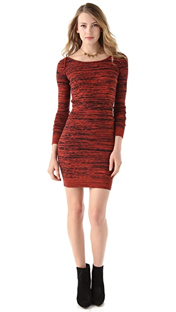 Rebecca Minkoff Essef V Back Cashmere Dress