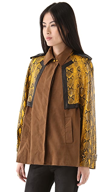 Rebecca Minkoff Dumont Trench with Python Leather