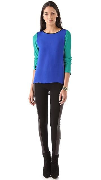 Rebecca Minkoff Leah Colorblock Top