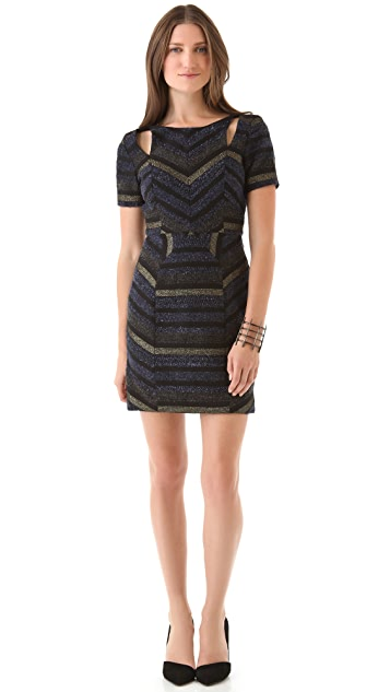 Rebecca Minkoff Crystal Sequin Cutout Dress