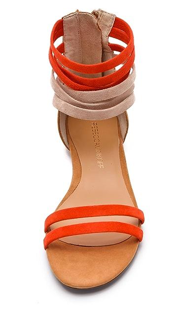 Rebecca Minkoff Baby Flat Suede Sandals