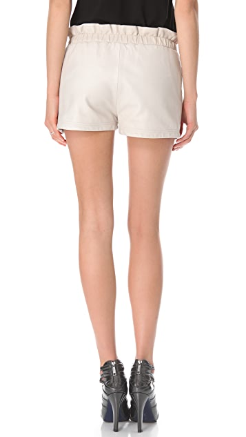 Rebecca Minkoff Leather Mika Shorts