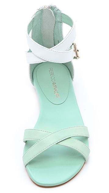 Rebecca Minkoff Bettina Two Tone Flat Sandals