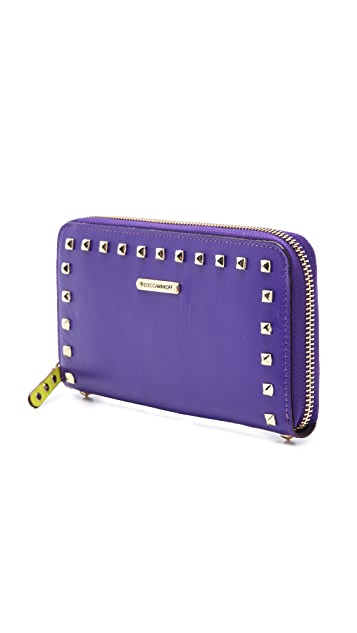 Rebecca Minkoff Large Zip Wallet with Studs