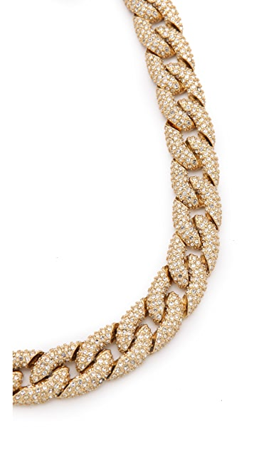 Rebecca Minkoff Pave Chain Link Necklace